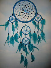 Handmade Large Triple Suede Dreamcatcher Turquoise Bdc12 UK SELLER