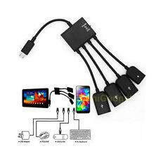 4 Port Micro USB Power Charging OTG Hub Cable