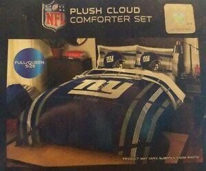 NFL New York Giants Full/Queen Plush Cloud Comforter & Sham Set