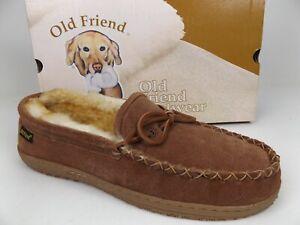 Old Friend Footwear Men's Sheepskin Loafer Moccasin Slippers Size 13.0 M,  21607