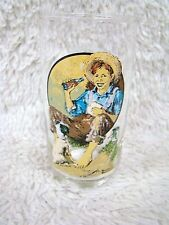 Reproduction of an Original Painting by Norman Rockwell from Coca Cola Glass Cup