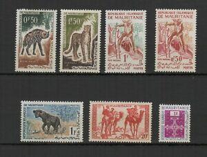 Mauritanie années 1960 un lot de 7 timbre non oblitérés /TR8727