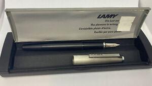 Vinage Lamy 80 81 Fountain Pen Stainless Brushed Macrolon B NIB W. Germany BOXED
