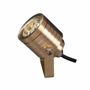 Elstead Elite Brass Garden LED Multi-Directional Spot Light GZ/ELITE6