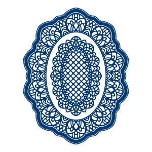 Tattered lace Schiffli die (442669)