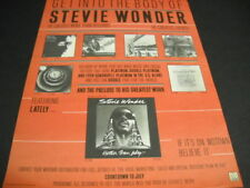 Stevie Wonder Get Into The Body.he creates events 1981 Promo Poster Ad mint