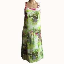 Eva & Claudi Damen Kleid Dress Gr.36 Sommerkleid Mehrfarbig 74588