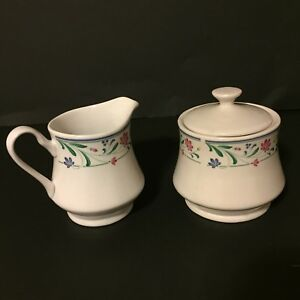 Brandywine Farberware Stoneware Creamer And Sugar Bowl With Lid 1998