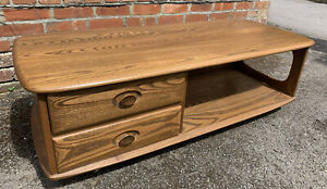 Ercol Rare Minerva Coffee Table / Drawers DELIVERY AVAILABLE