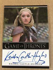 Game Of Thrones Season 5 Keisha Castle-Hughes Autograph Card, Obara Sand Auto
