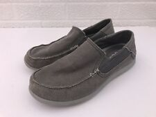 Crocs Slip On Canvas Fabric Loafers Boat Shoes Men s Size 7 Gray 202058 df7b8ff784
