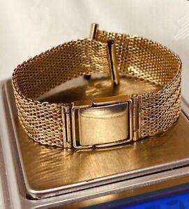 Superb, Solid 9k Gold Watch Strap Bracelet ~ 18.5 grams ~ not scrap ~ Vintage!