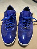 Versace Men's Low Top Sneakers Patent Leather Medusa Head Size 11.5 Pre-owned