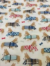 Welsh Corgi Dogs in Winter Coats Pillowcase 100% Polyester Euc