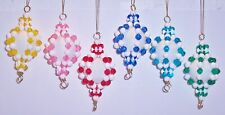"""Bead Craft Kit Candy Globe Christmas Ornaments 4-1/4"""" high Makes 6 New"""