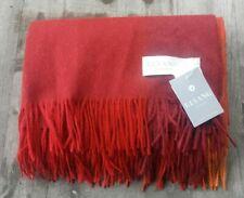 Elvang Denmark Alpaca / Wool Throw – Red / Orange Check – New