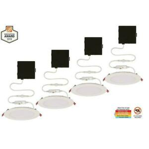 Commercial Electric Ultra Slim 6 in Canless Recessed Integrated LED Kit (4-Pack)