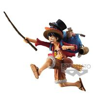 Banpresto One Piece Collectible Anime Figure Luffy with Ace Sabo Hats BP38740