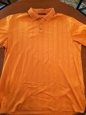 Mens Tiger Woods Golf Polo Orange Size XXL