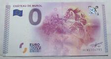 France Zero Euro Souvenir Bill Medieval Knight Murol Fortress Money Banknote
