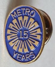 Metro Police 15 Years Pin Badge Rare Collectable US Vintage (D5)