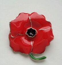 Red Flower  Poppy Pin Brooch Women Brooch Badge