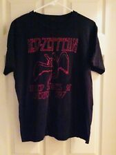 Led Zepplin United States of America 1977 Black and Red T-Shirt Size Large (W1)