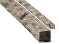 TED BAKER Classic Mens Woven Beige Check Pattern Silk Necktie Tie > RRP £55