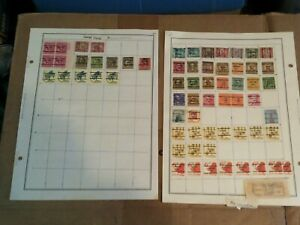 United States Pre cancelation Postage Stamp Pages ! 30+ Stamps Lot B-14
