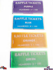 4 Pack Raffle Tickets | Your Great Party Event Partner Cloakroom Raffles