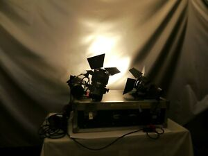 Sachtler Reporter 650HS Scheinwerfer 2 Stück 1 defekt im Case Foto Video    jh