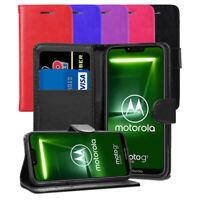 "For Moto G7 Power 6.2"" - Premium Slim Leather Wallet Flip Case Book Folio Cover"
