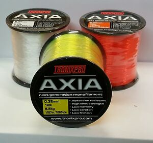 Tronix Pro Axia High Strength Sea Fishing Line Bulk 4oz Spool All B/S & Colours
