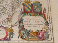 [CARTE GEOGRAPHIQUE XVIIe] BLAEU / BURGUNDIAE - BOURGOGNE (Ca 1640)