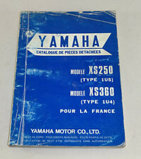 CATALOGUE DE PIECES DETACHEES YAMAHA XS 250/XS 360 - 1976!