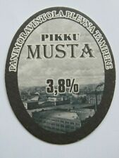 Beer Brewery Coaster ~ Koskipanimo Plevnan Pikku Musta ~ Tampere, Finland
