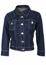 New Look Denim Patternless Cropped Coats & Jackets for Women