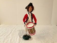 "Vintage 2001 Byers' Choice ""Williamsburg Drummer"" retired red jacket base tlc"