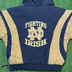 Notre Dame Starter Jacket Youth Medium Boy Vintage 90s Fighting Irish University