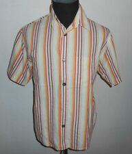 180 45 SIGNUM Designer Camicia tg. M/L We ISS ARANCIONE GIALLO ROSSO a righe