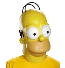 Homer Simpson The Simpsons Cartoon Men Costume Deluxe Overhead Mask