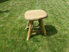 Solid, heavy, Handmade Wooden Garden Furniture Elm Acacia - Stool