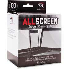 Read Right AllScreen Screen Cleaning Kit 50 Wipes 1 Microfiber Cloth RR1503