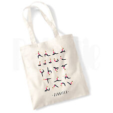 Personalised 'Yoga Poses' Canvas Tote Bag