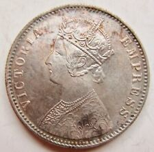 British India 1901-C Rupee Calcutta Mint Queen Victoria Empress