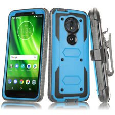 For Moto G6 Play/E5 Case Heavy Duty Shockproof Holster Armor Kickstand Cover
