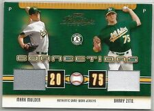 BS25  2003 Playoff Prestige Connections C-47 Mark Mulder, Barry Zito Dual Jersey