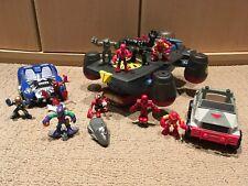 Marvel Super Hero Squad Lot Of 10 - Heli-Carrier, Spider-Man, Iron Man, Venom