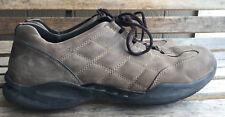 Men's Clarks Wave Brown Nubuck Leather Shoes Size 13 M