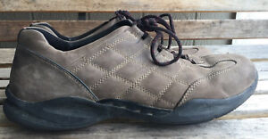 Mens Clarks Wave Brown Nubuck Leather Shoes Size 13 M